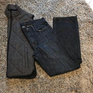 Banana Republic straight leg 32x32 dark wash jeans